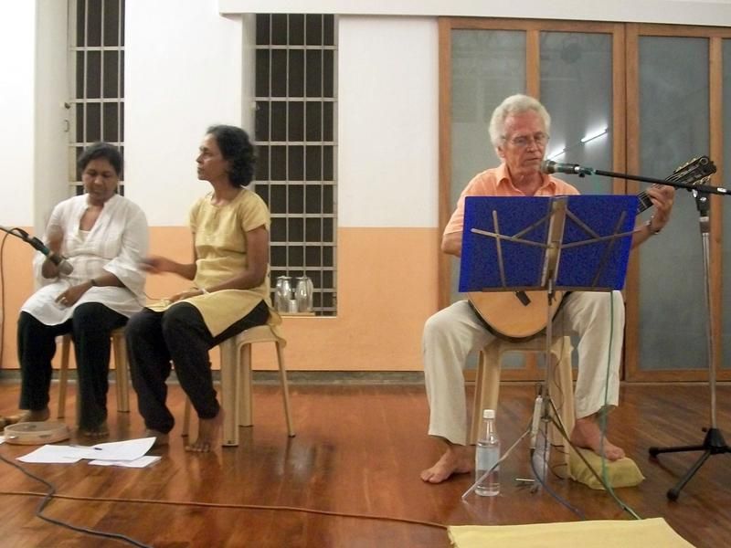 Photographer:Kristen | Jivatman performing with Devi and Joy
