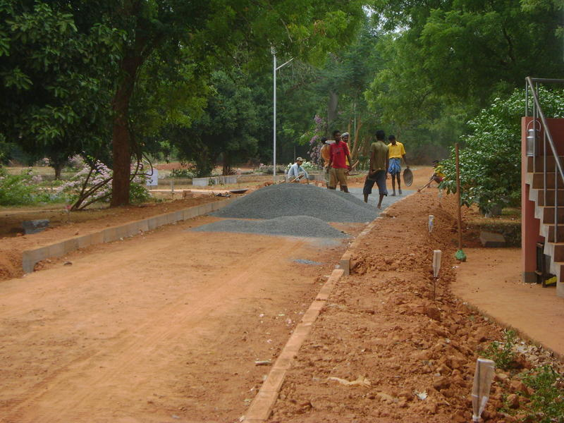 Photographer:Amelia | New paved road toward Auroville Foundation Office in Town Hall