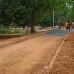 New paved road toward Auroville Foundation Office in Town Hall