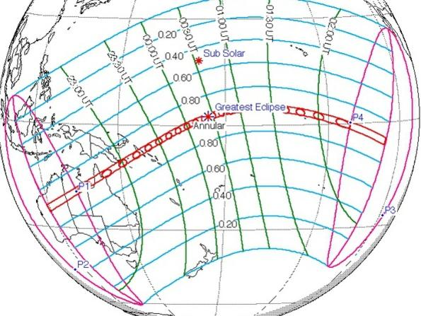 Photographer:web | 171 to 225 Km wide track of visibility of eclipse