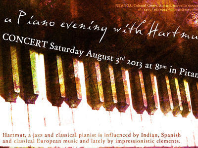 Photographer:web | Hartmut - piano on Saturday at 8pm at Pitanga