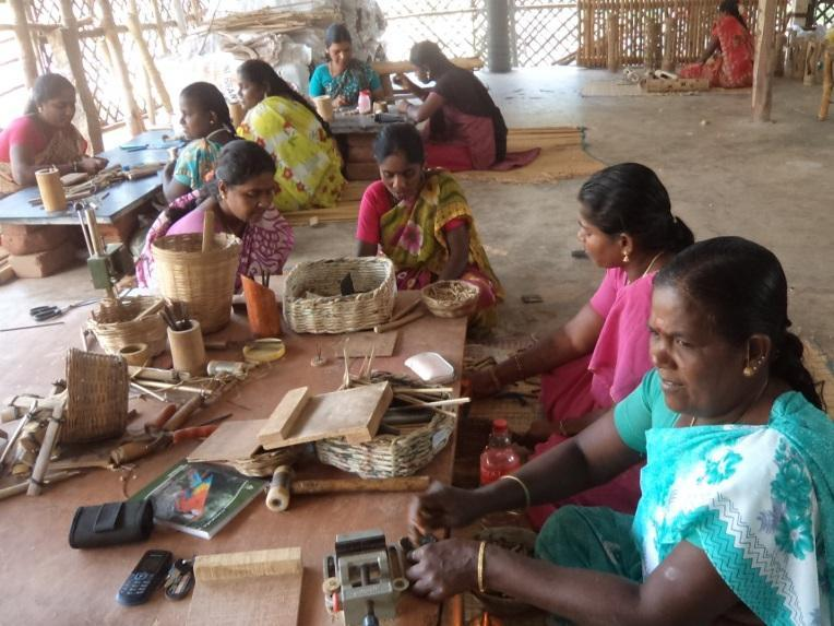 Photographer:SEDAB team | Women recycling paper into crafts at Wellpaper