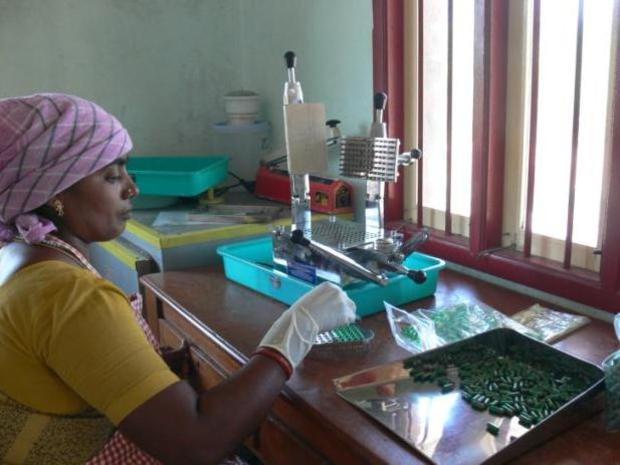 Photographer:SEDAB team   Spirulina production at Nadukuppam