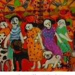 P.Saravanan art exhibited at Maison Perumal inPonycherry