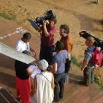 Austrian crew filming on film festival