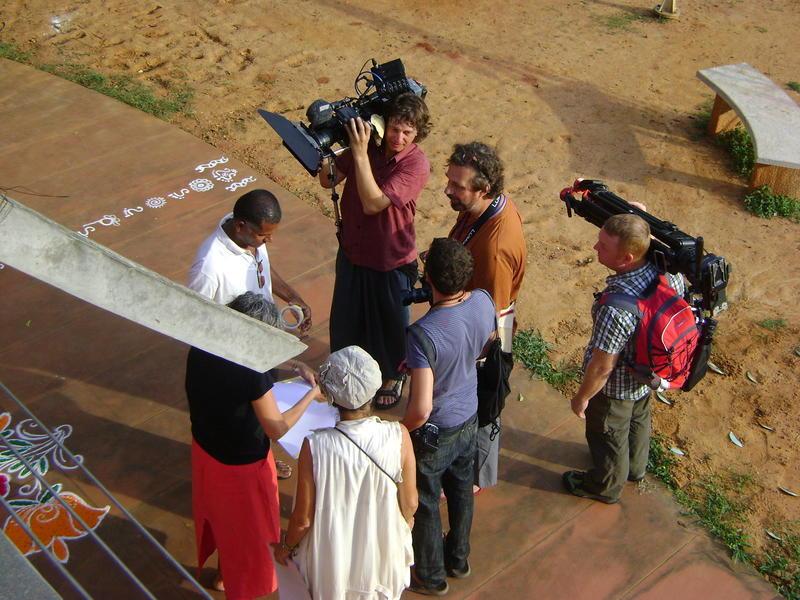 Photographer:Fabienne   Austrian crew filming on film festival