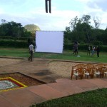 Auroville Film Festival 13 17th to 22nd of Septmber - outdoor venue