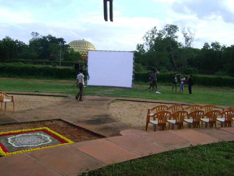Photographer:web | Auroville Film Festival 13 17th to 22nd of Septmber - outdoor venue