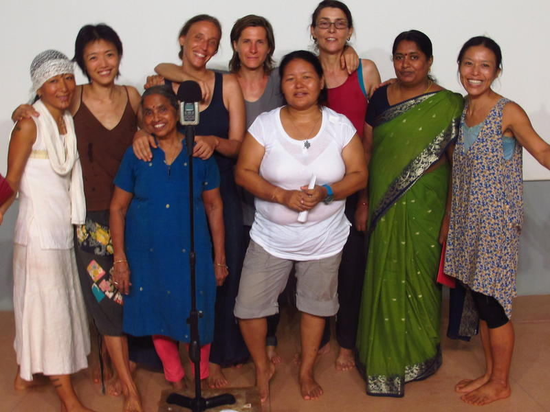 Photographer:Caroline   Auroville Women Sound Artist Project -Anne, Anungla, Buvana, Caroline, Chitra, Kalsang, Nadia, Surya, Yumi