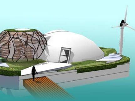 Photographer:web | Sustainable Living - waterpod floating home