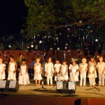 The children choir opened the Singing Festival.