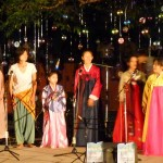A South Korean song performed in traditional costumes.