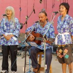 Ananda on guitar accompanying the 2 members of the Japanese group.
