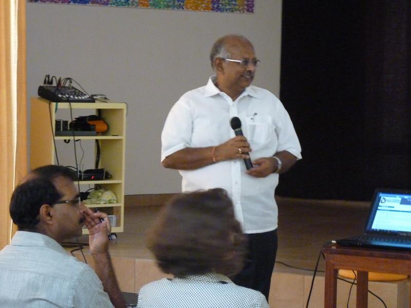 Photographer:Patrick |  Mr Bala Baskar secratary of Auroville Foundation