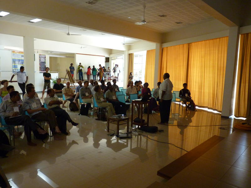 Photographer:Patrick | Mr Bala Baskar secratary of Auroville Foundation speach