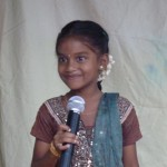 Young singing girl