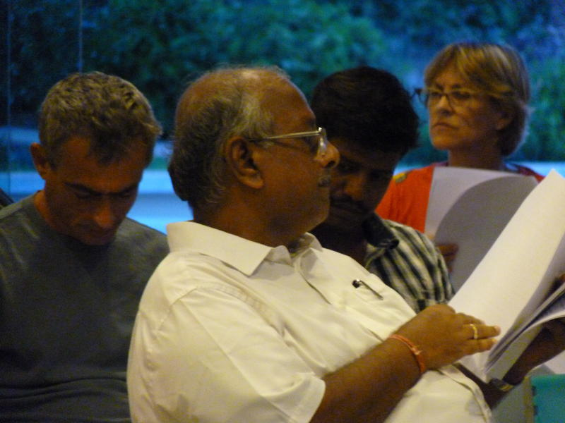 Photographer:Fabienne | Mr. Bala Baskar Secretary of Auroville Foundation