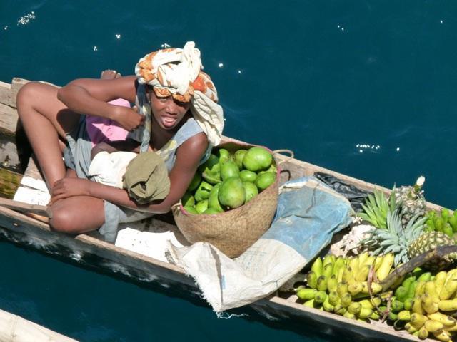 Photographer:web | Madagascar fruit vendor