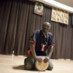 Drumming as a vital part of African life along with invitation to dance