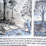 A page of the Water Book, written by Sandrine illustrated by Emanuele.