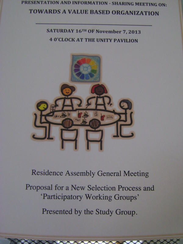 Photographer:Tabitha | 2nd General Meeting on a proposed New Selection Process for the Workin