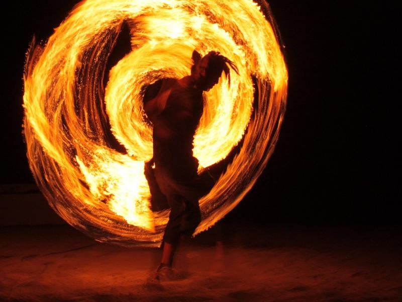 Photographer:web | Fire Juggling - Visitor Centre 23rd, 24th at 8pm
