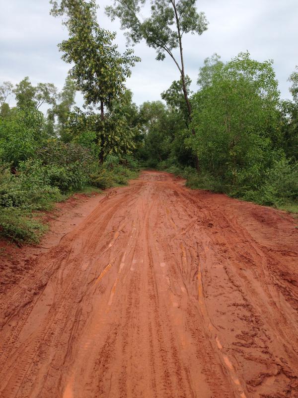 Photographer:web | Muddy road in Auroville after rain in monsoon season