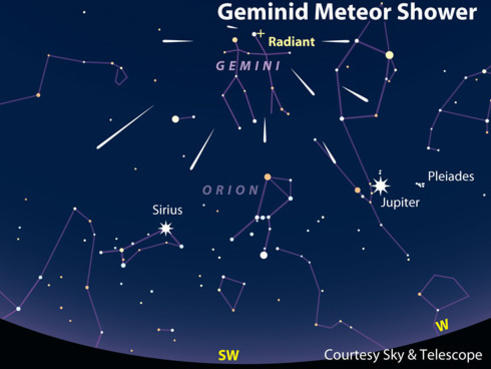 Photographer:web | Geminidi Meteor Shower on early morning of 14th. Decmber