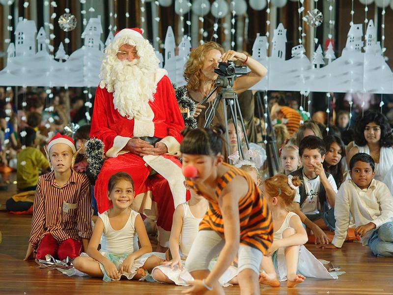 Photographer:Giorgio | Santa Claus enjoing the performance in CRIPA.