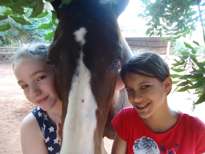 Photographer:Sandrine | Satyamayi and Leela at Evergreen Riding School