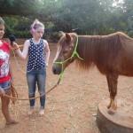 Leela and Satyamayi at Evergreen