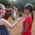 Leela interviewing Satyamayi at Evergreen