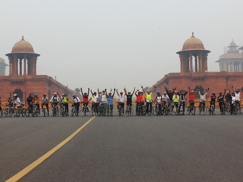 Photographer:Unnicycles_MSF | Delhi cycles for doctors without borders/medecins sans frontieres