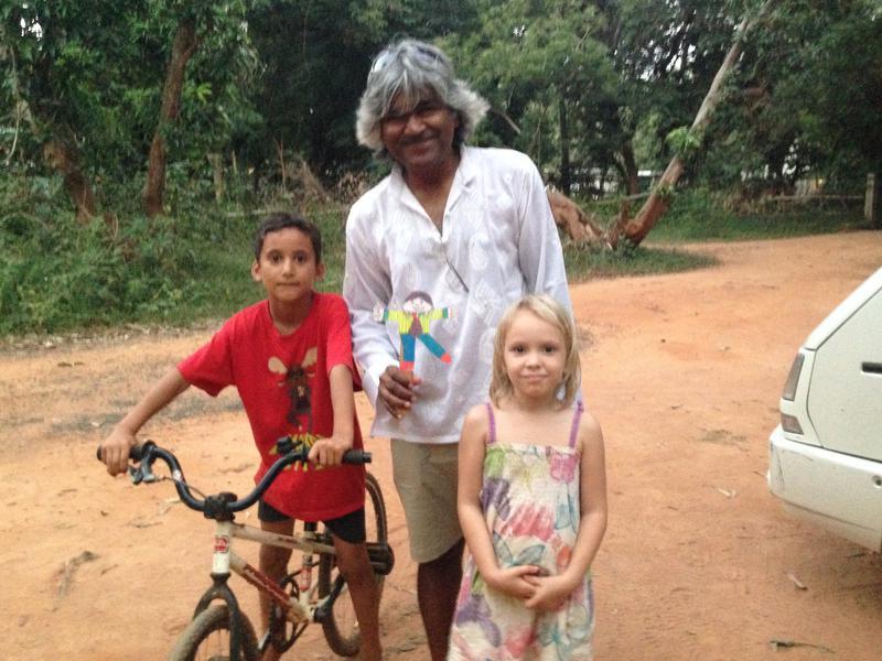 Photographer:Marie Fouquet | Unnicycles short ride with Aurovillian kids
