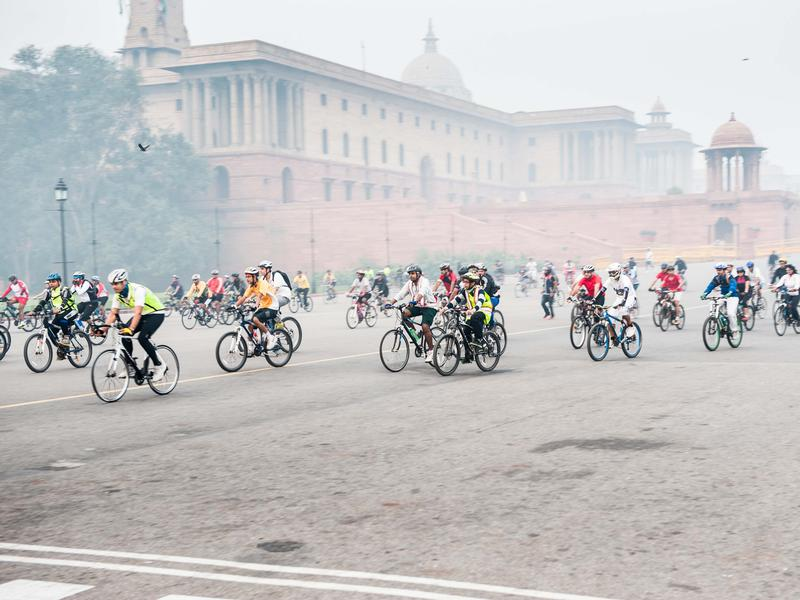 Photographer:Unnicycles_MSF | Cycling from Rashtrapati Bhavan, New Delhi to Biodiversity Park