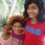 Meera, Hannah, Ahilya, Deepanam school