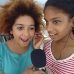 Hannah and Meera singing, Deepanam school