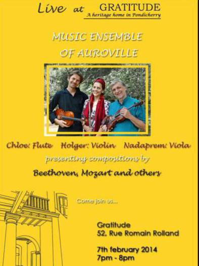 Photographer:Barbaara | Music Nesemlbe of Auroville 29th of January at 8pm at CRIPA