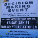 Decision makinf event tomorrow at SOlar Kitchen