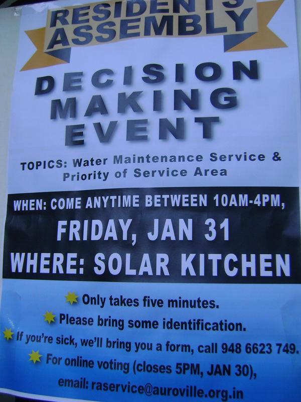Photographer:clara | Decision makinf event tomorrow at SOlar Kitchen