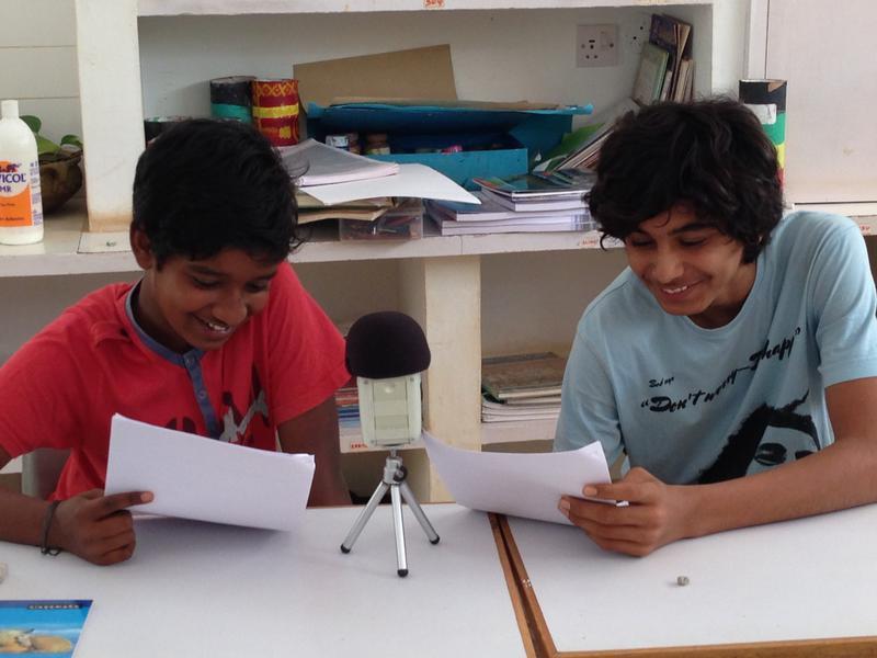 Photographer:Sandrine | Sai and Atman recording at Deepanam school 2