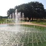 The new fountain at Matrimandir garden