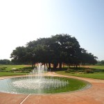 The new fountain at Matrimandir garden