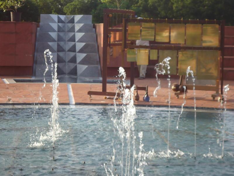 Photographer:Sandrine | Fountain and Russian Bells at Matrimandir