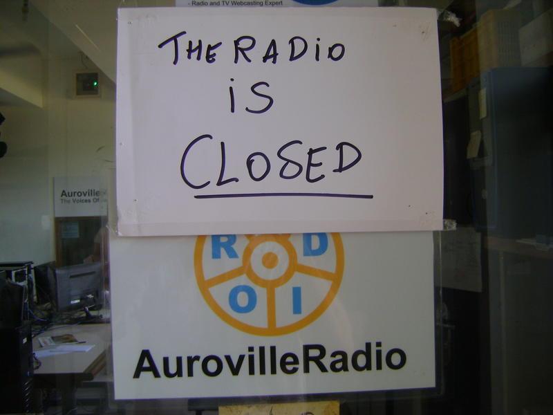 Photographer:Andrea | Note on AV RAdio door for past 3 months