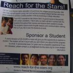 Reach for Stars, sponsoring
