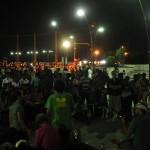 crowd on Gandhi Beach in Pondicherry