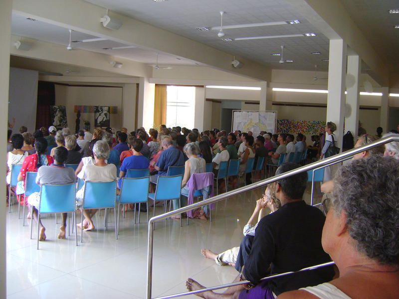 Photographer:Shamika | General Meeting on proposed by Study Group on Selection new Working Committee and Auroville Council