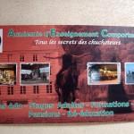 L'affiche du centre d'Equitation comportementale de Firfol