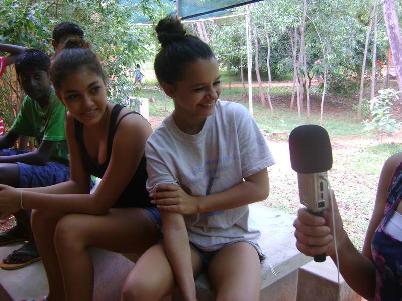 Photographer:Namoi and Ahilya | Ayesha being interviewed